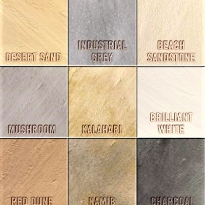 ABOUT THE RUSTIC COLOUR CHART FOR SLABS _ COBBLES ETC