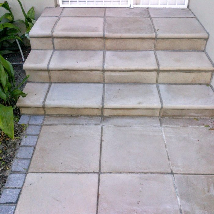 STEPS WITH BULLNOSE SLABS